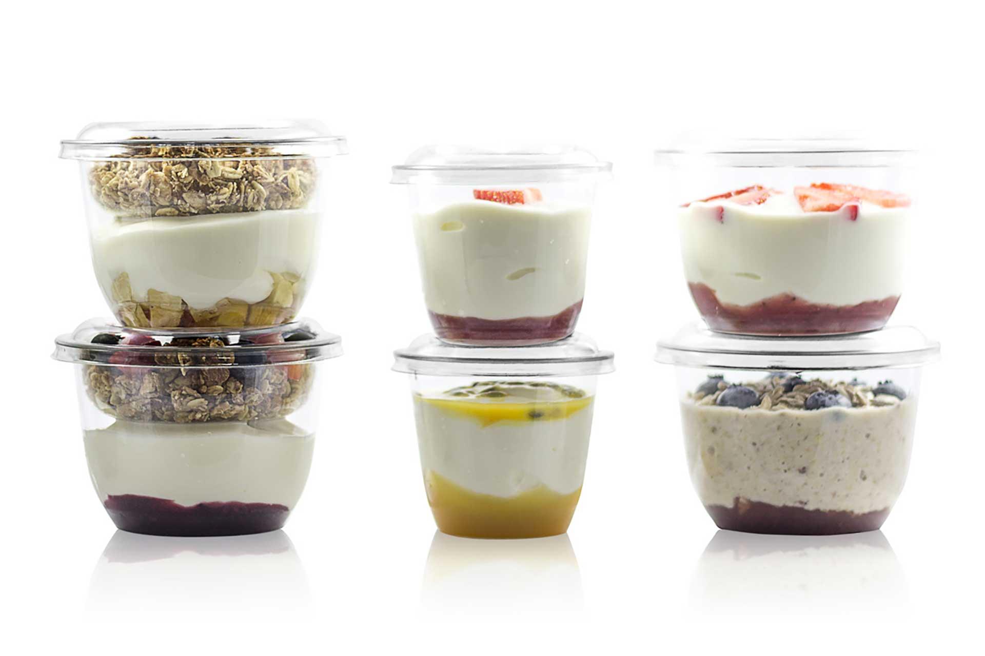 conditionnement en pot plastique ou verre pour produits laitiers
